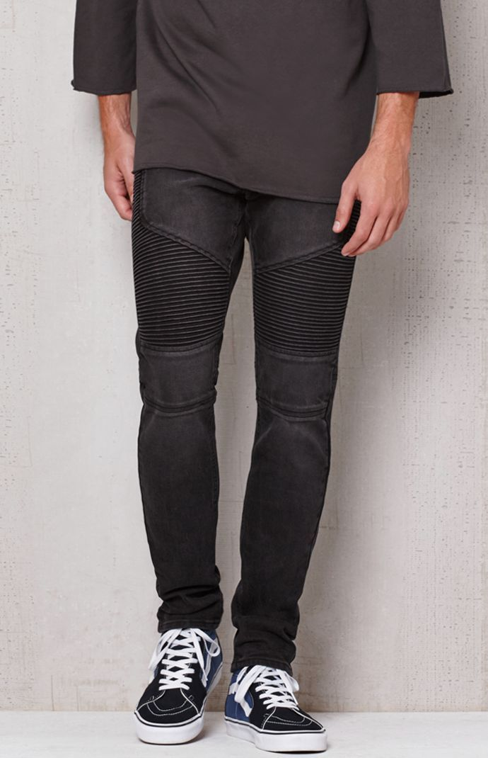 Stacked Skinny Moto Black Stretch Jeans | *Pacific Sunwear ...