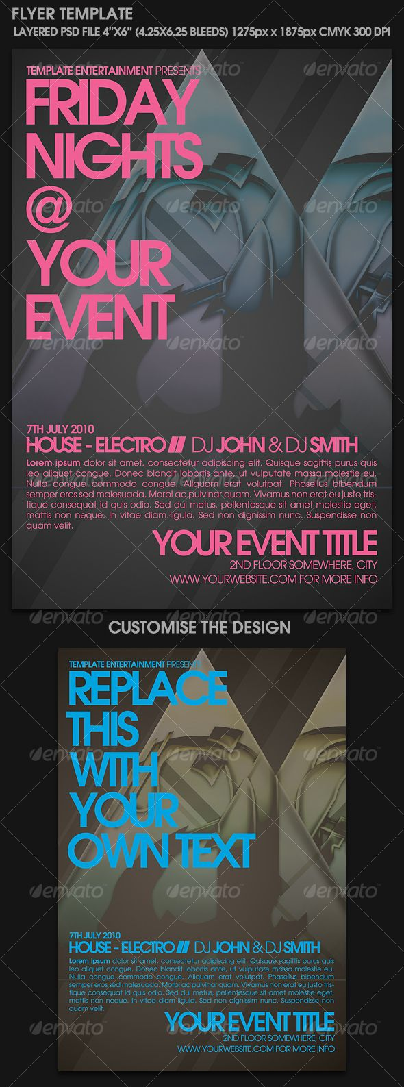Contemporary Flyer Template  Flyer Template Template And Print