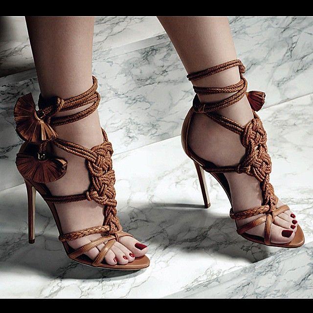 """Given' it to ya!!!! Yuna sandal in nude plonge' nappa.. Perfect Summer sandal SS15  #brianatwood"""
