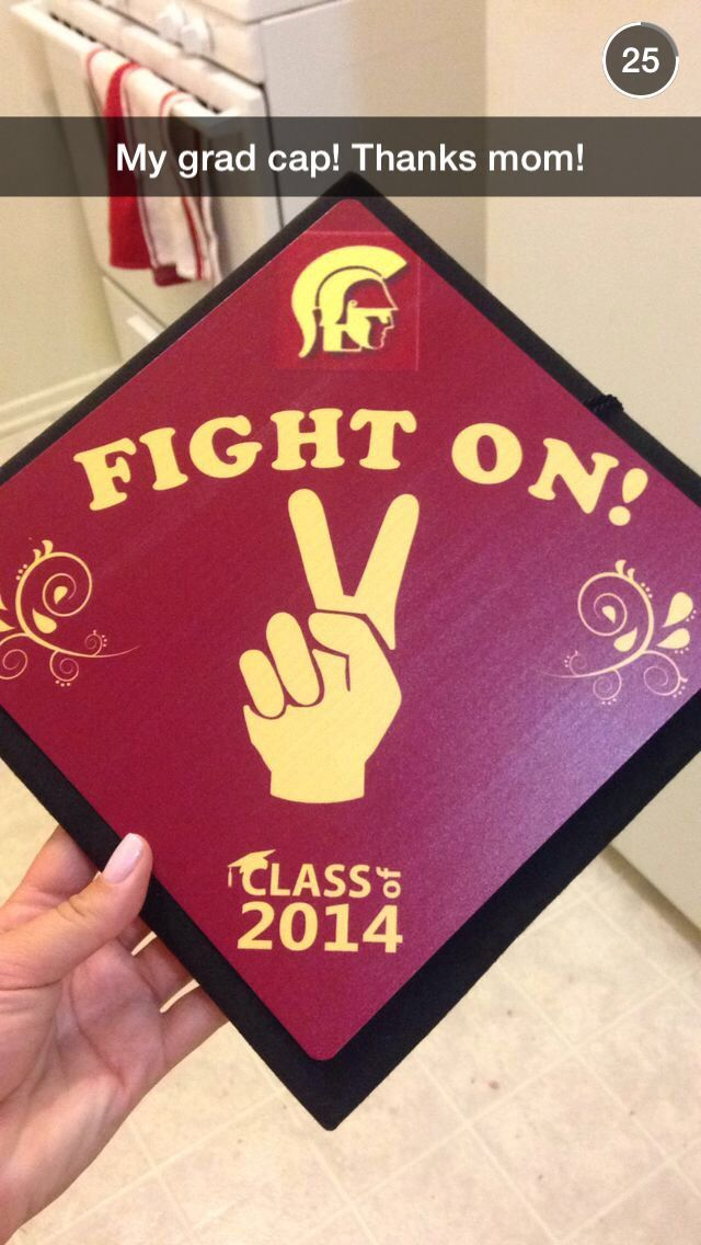 Graduation cap I made as a gift for my daughter. #USC #graduation ...