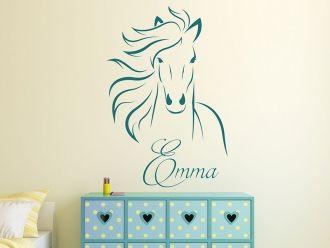 wandtattoo wildes pferd mit wunschname kinderzimmer josephine in 2019. Black Bedroom Furniture Sets. Home Design Ideas