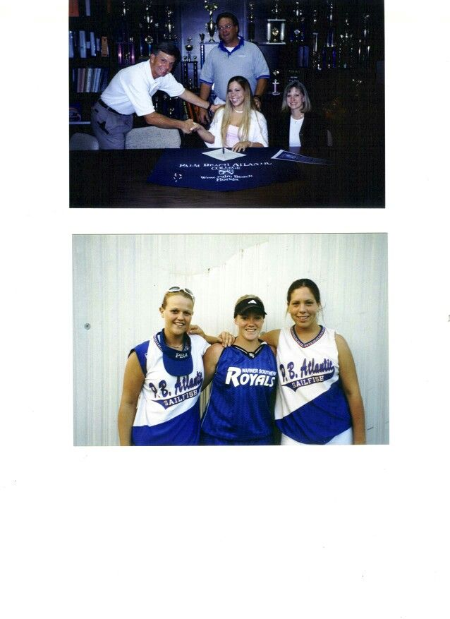 Top Picture Is Vanessa Cachioli 2001 Softball Signing To Play At Palm Beach Atlantic University To Play For Coach Bill Wilson Nsr Athletes Signing Palm
