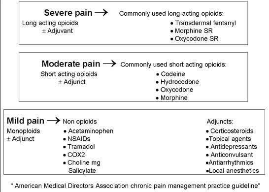 Pain Medication Chart By Strength Of The Pain Pain