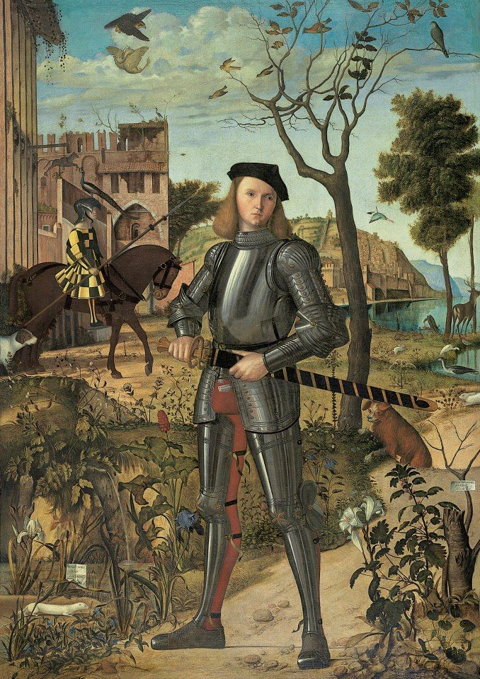 """Joven caballero en un paisaje"" de Carpaccio  Museo Thyssen-Bornemisza"