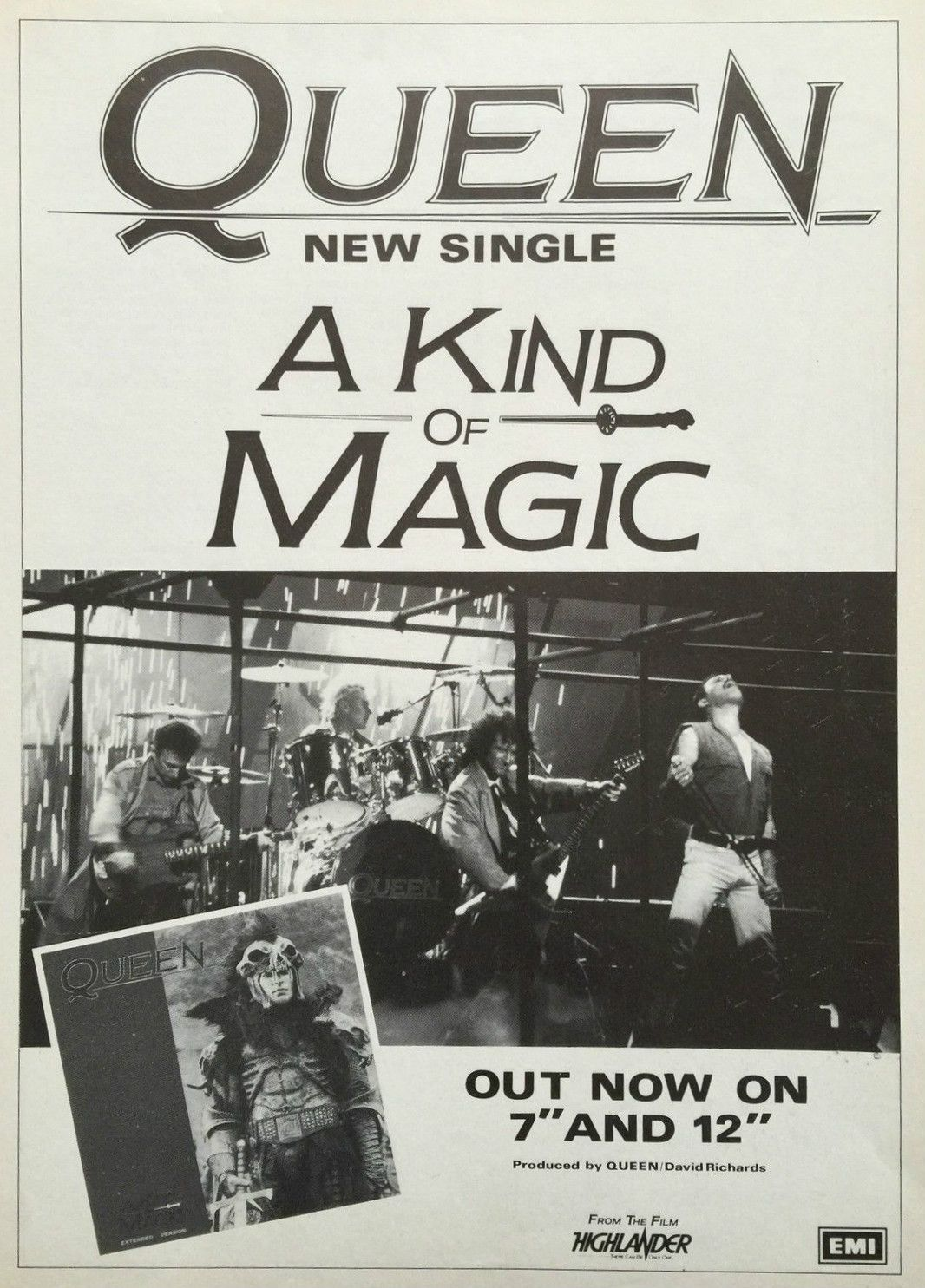 Queen Promotional Ad A kind of magic, Concert posters