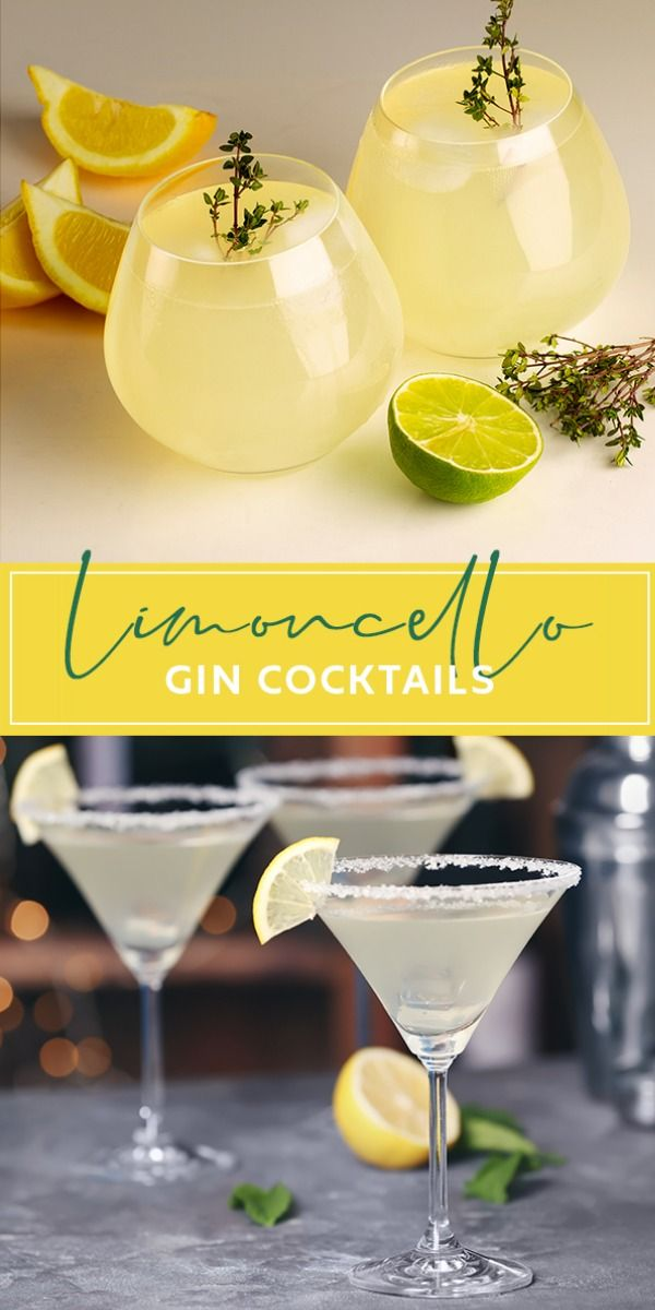 Limoncello Gin Cocktails | Craft Gin Club