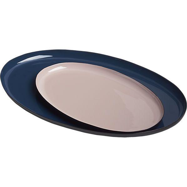 enamel oval trays  | CB2