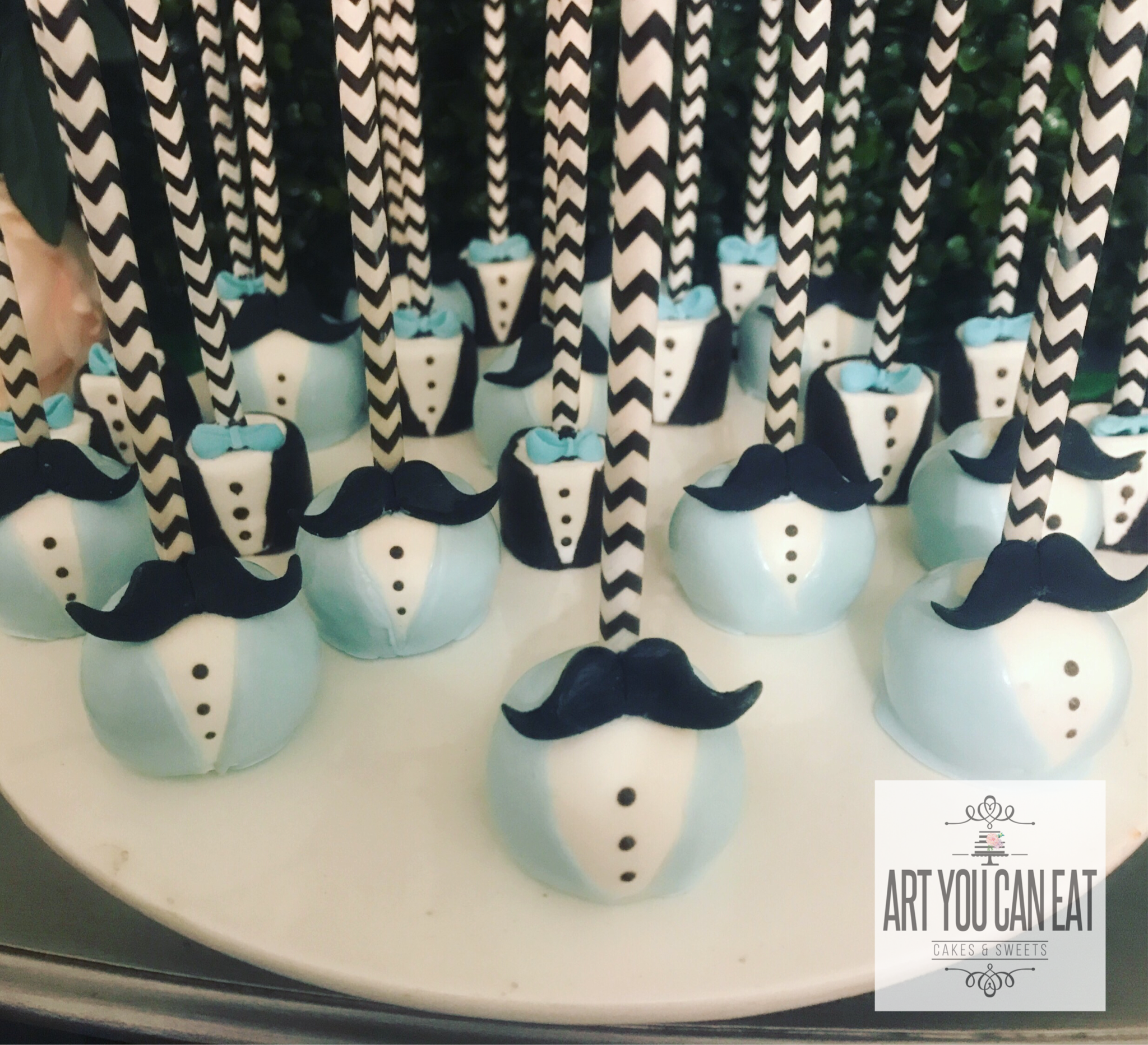 Moustache Cake Pop Little Man