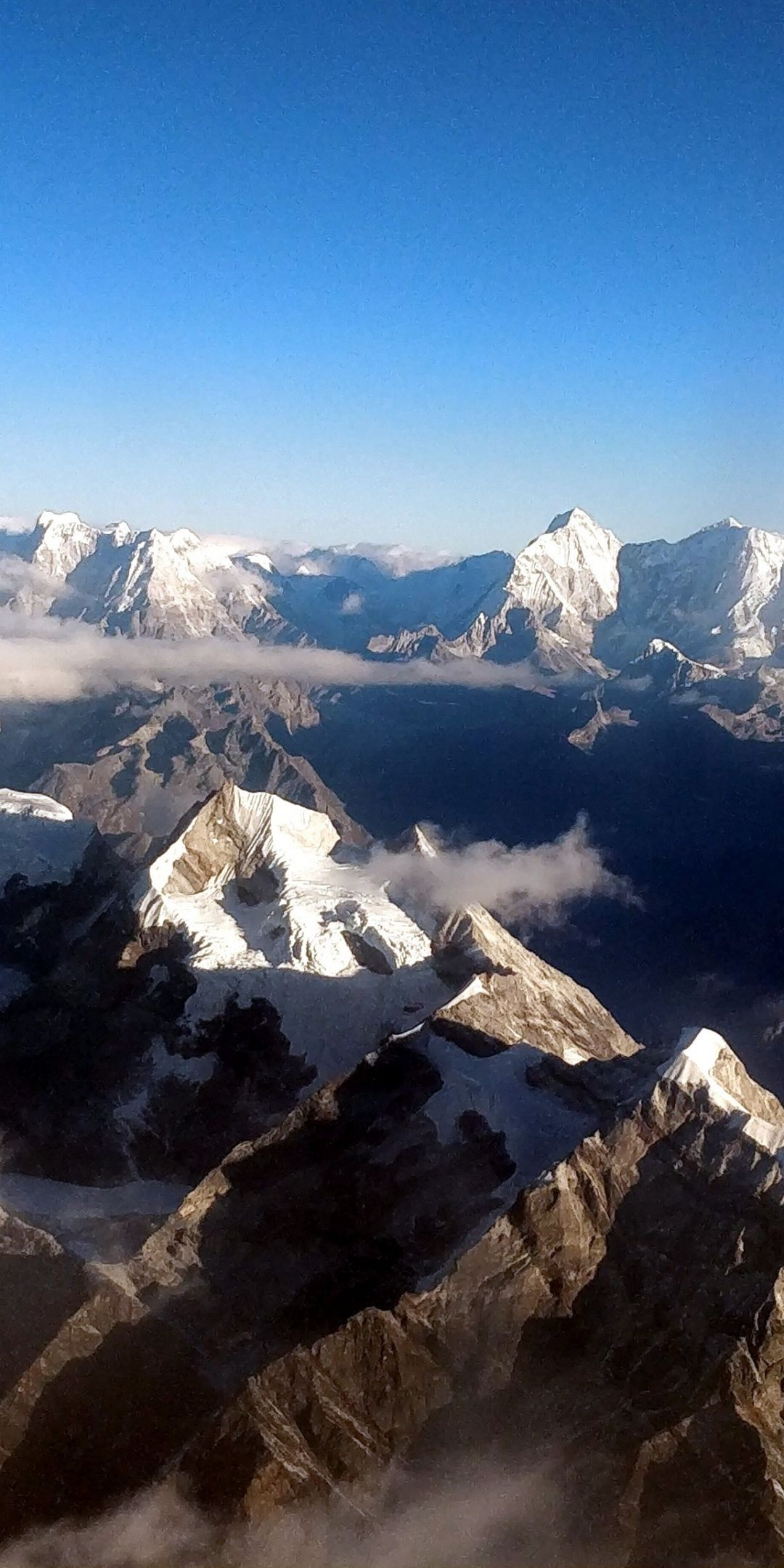 Himalayan Mountains Range Horizon Nepal 1080x2160 Wallpaper Beautiful Nature Wallpaper Nature Wallpaper Nature Pictures