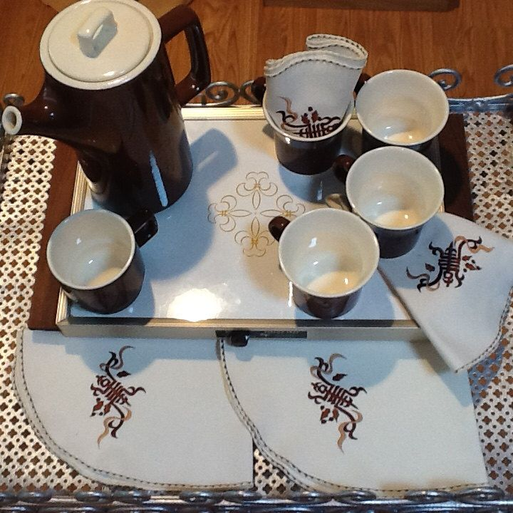 A personal favorite from my Etsy shop https://www.etsy.com/listing/281356440/1970s-coffee-service-collection