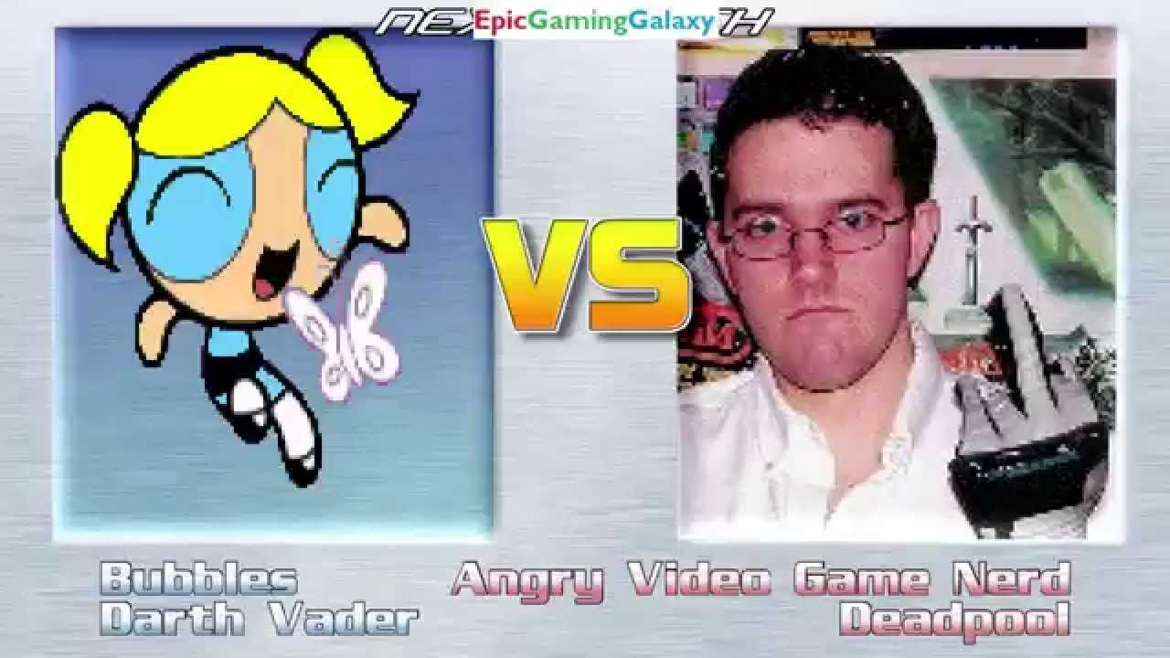 Bubbles The Powerpuff Girl And Darth Vader VS The AVGN And Deadpool In A MUGEN Match / Battle This video showcases Gameplay of Darth Vader The Sith Lord From The Star Wars Series And Bubbles The Powerpuff Girl From The Powerpuff Girls Series VS The Angry Video Game Nerd / AVGN And Deadpool In A MUGEN Match / Battle / Fight