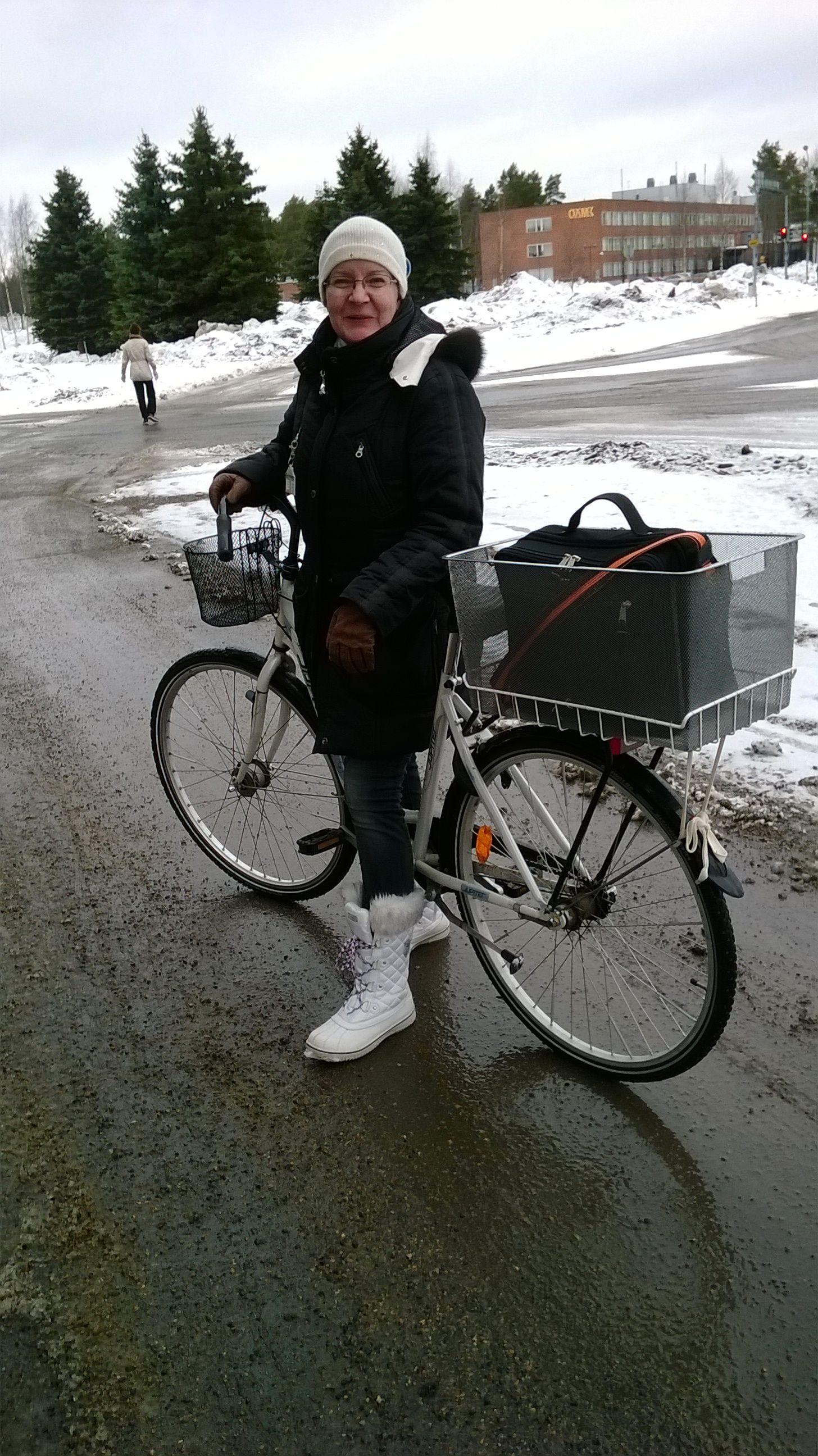 Polkupyörällä työmatka taittuu kätevästi