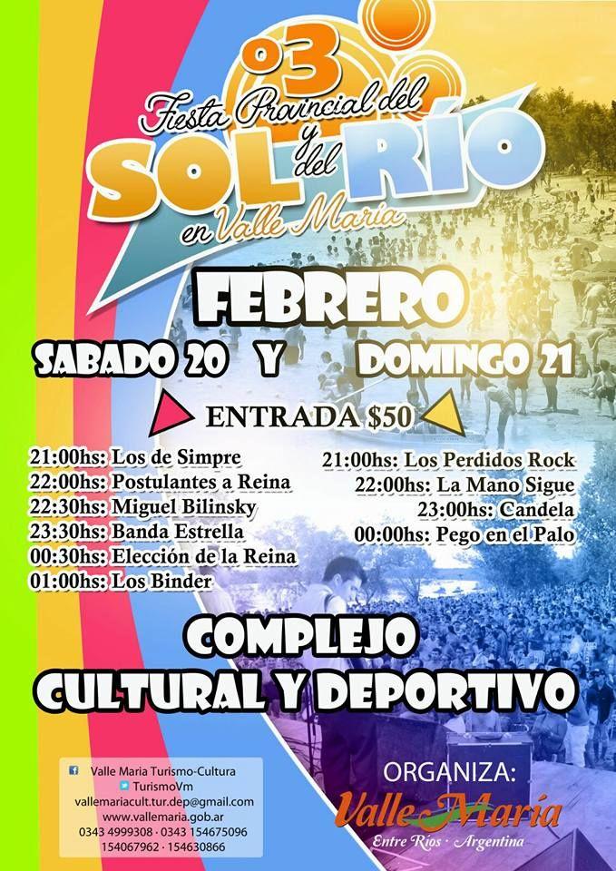 20 y 21 Febrero Valle Maria - Fiesta del Sol y del Rio 2016 | Region Litoral