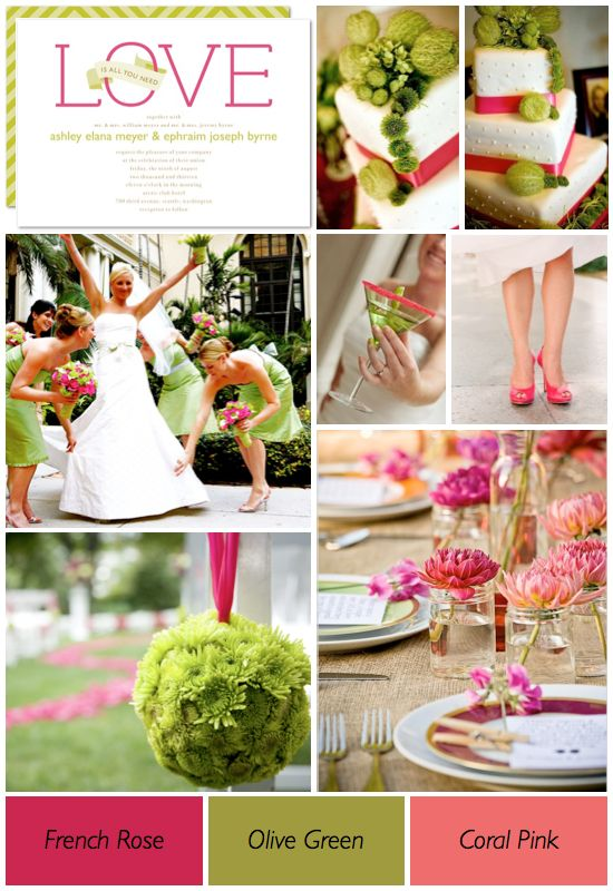 Shades Of Pink And Green Wedding Color Ideas Trends