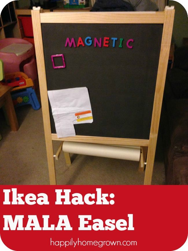 IKEA Hack of the MÅLA Easel | Best of Happily Homegrown | Ikea easel