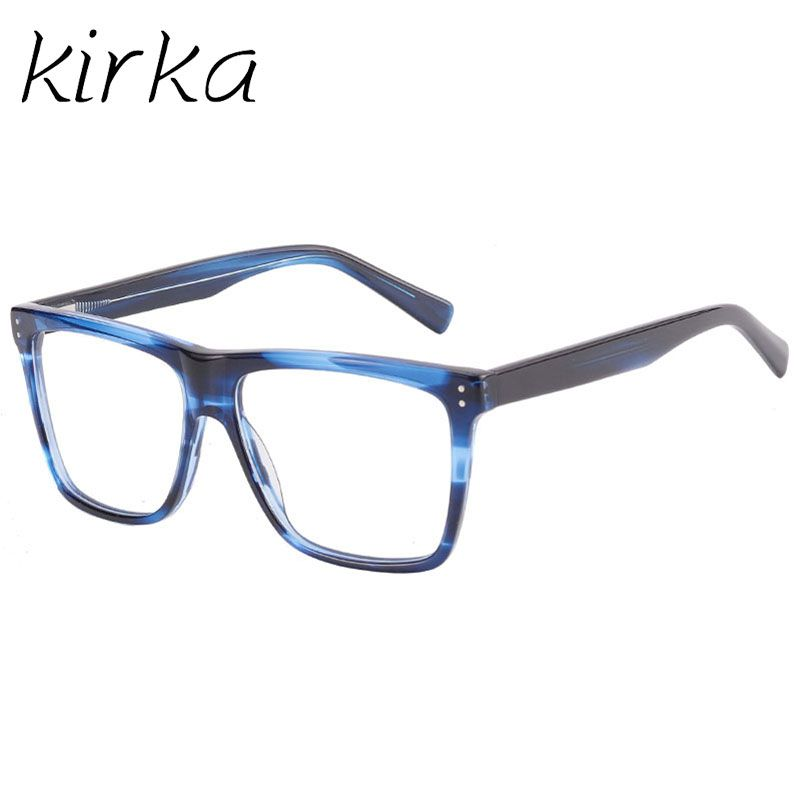 Eyewear · Kirka Brand Clear Eyeglasses Male Men Acetate Optical Glasses ... 9b5fb37c05db