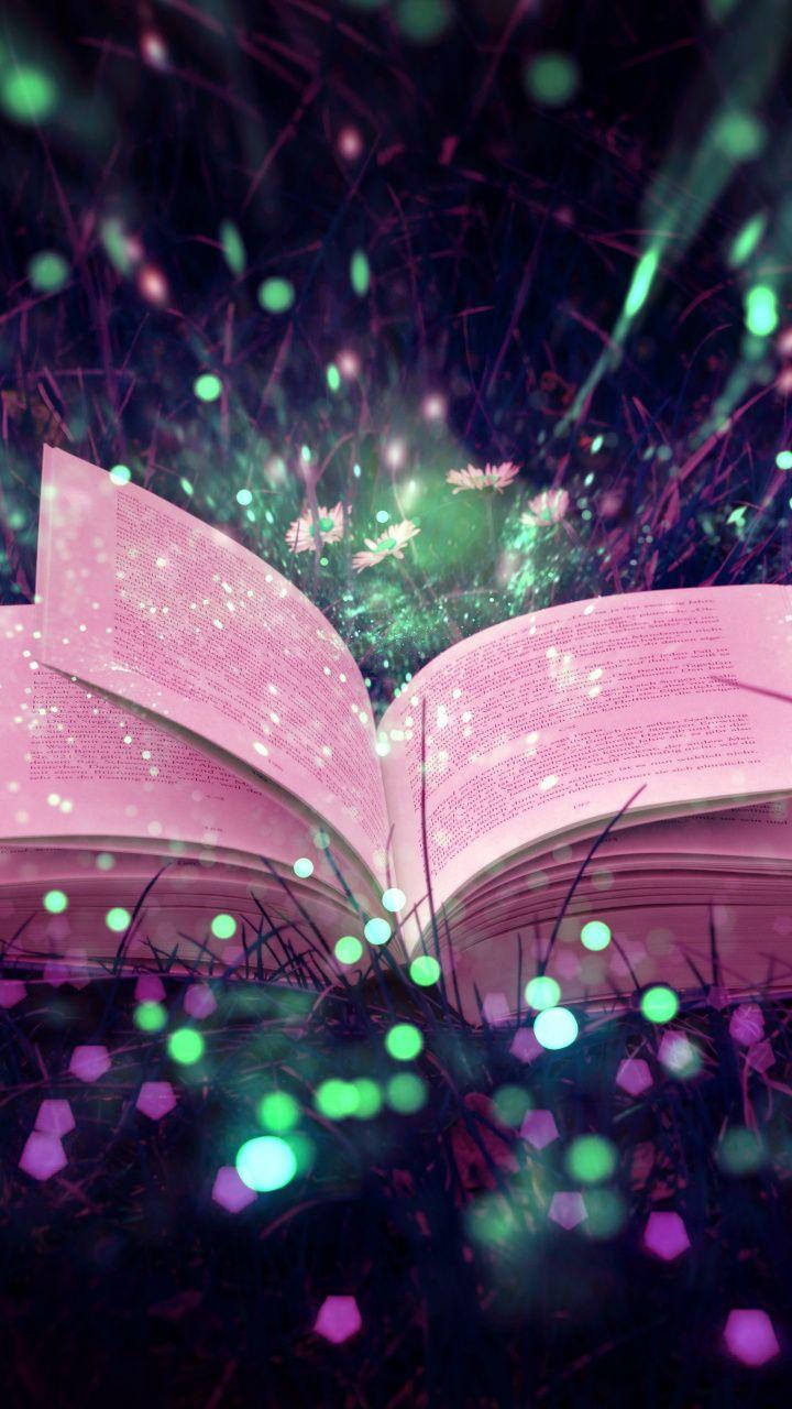 720x1280 Book, magical lights, bokeh wallpaper Bokeh
