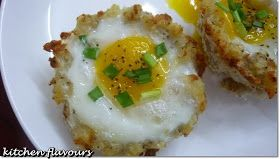 kitchen flavours: Eggs In Hash Brown Nests