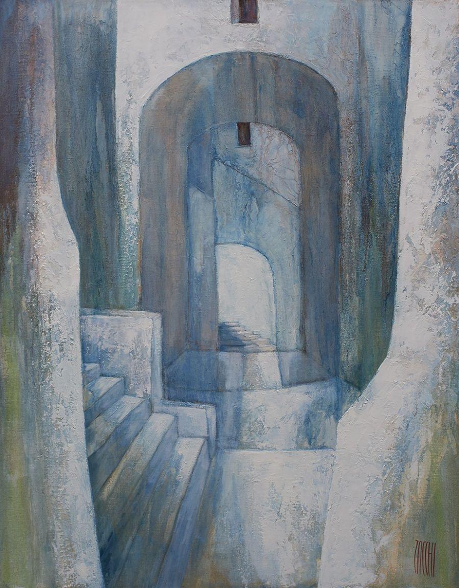 Passage vers l'école  | 116 x 89 cm | Huile sur toile