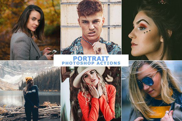 Portrait Photoshop Actions by Viktor Gjokaj on Creative Market #portrait #Photoshop #action #free