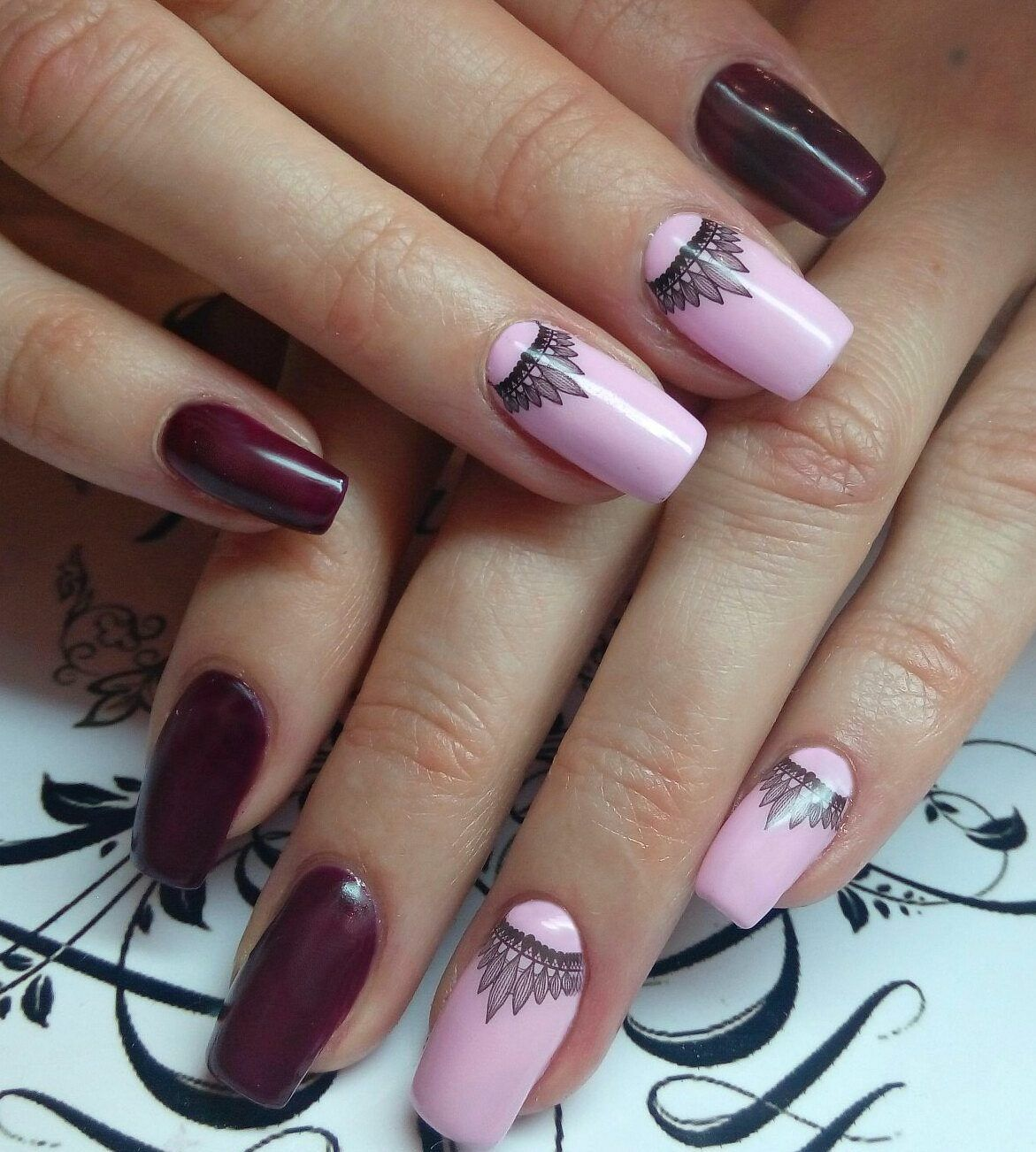 Nail art 3583 best nail art designs gallery maroon nails nail art 3583 best nail art designs gallery prinsesfo Gallery