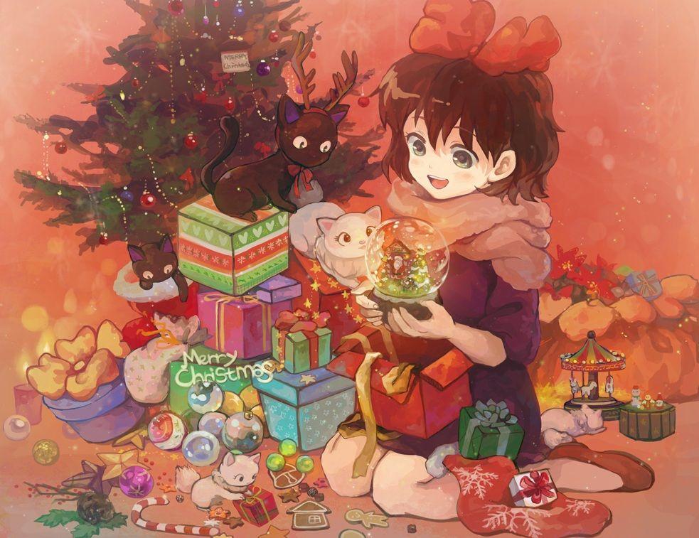 Phi Stars Wonderful Merry Christmas Anime Wallpapers Studio Ghibli Art Anime Christmas Ghibli Art