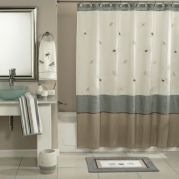 Shalimar Dragonfly Shower Curtain Collection Shower Curtain Decor Tall Shower Curtains Fabric Shower Curtains