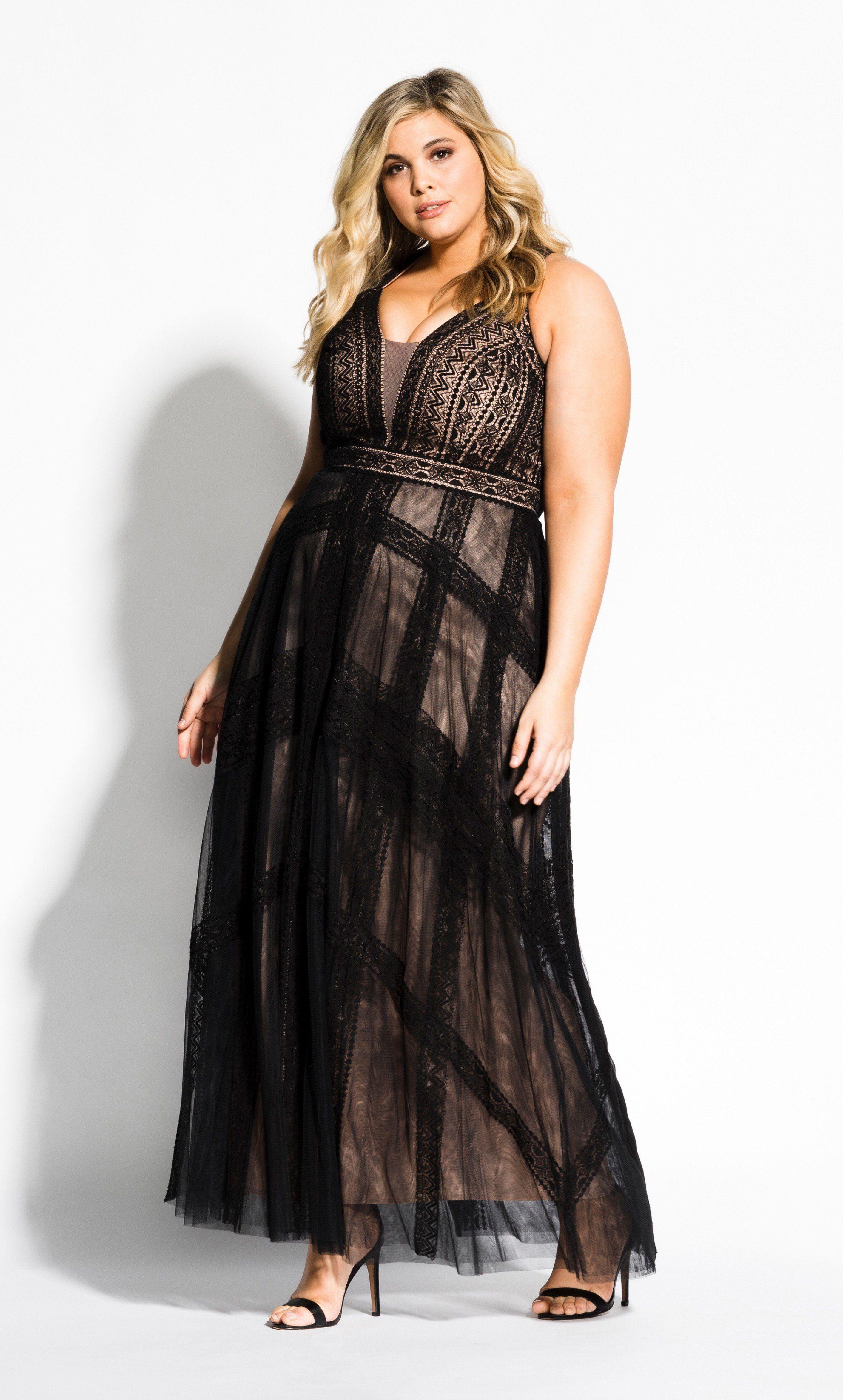 Divine Whimsy Maxi Dress black Dresses, Plus size