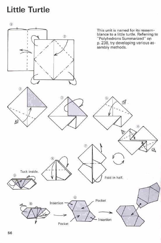 tomoko fuse little turtle unit diagram hard to find origami rh pinterest com Difficult Origami Origami Dragon Step by Step