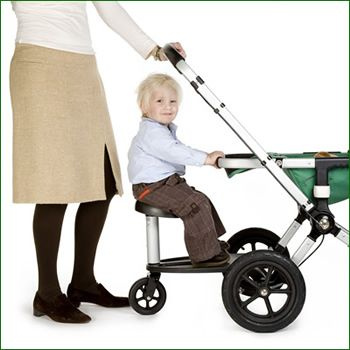 maybe my bugaboo can work for two after all...Revelo Twoo (I just worry about kicking the wheeled board while pushing)