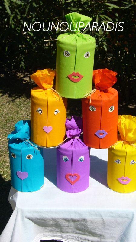 Chamboule tout, fait maison :)))) (papier crépon)   Papier crépon, Bricolage enfants automne ...