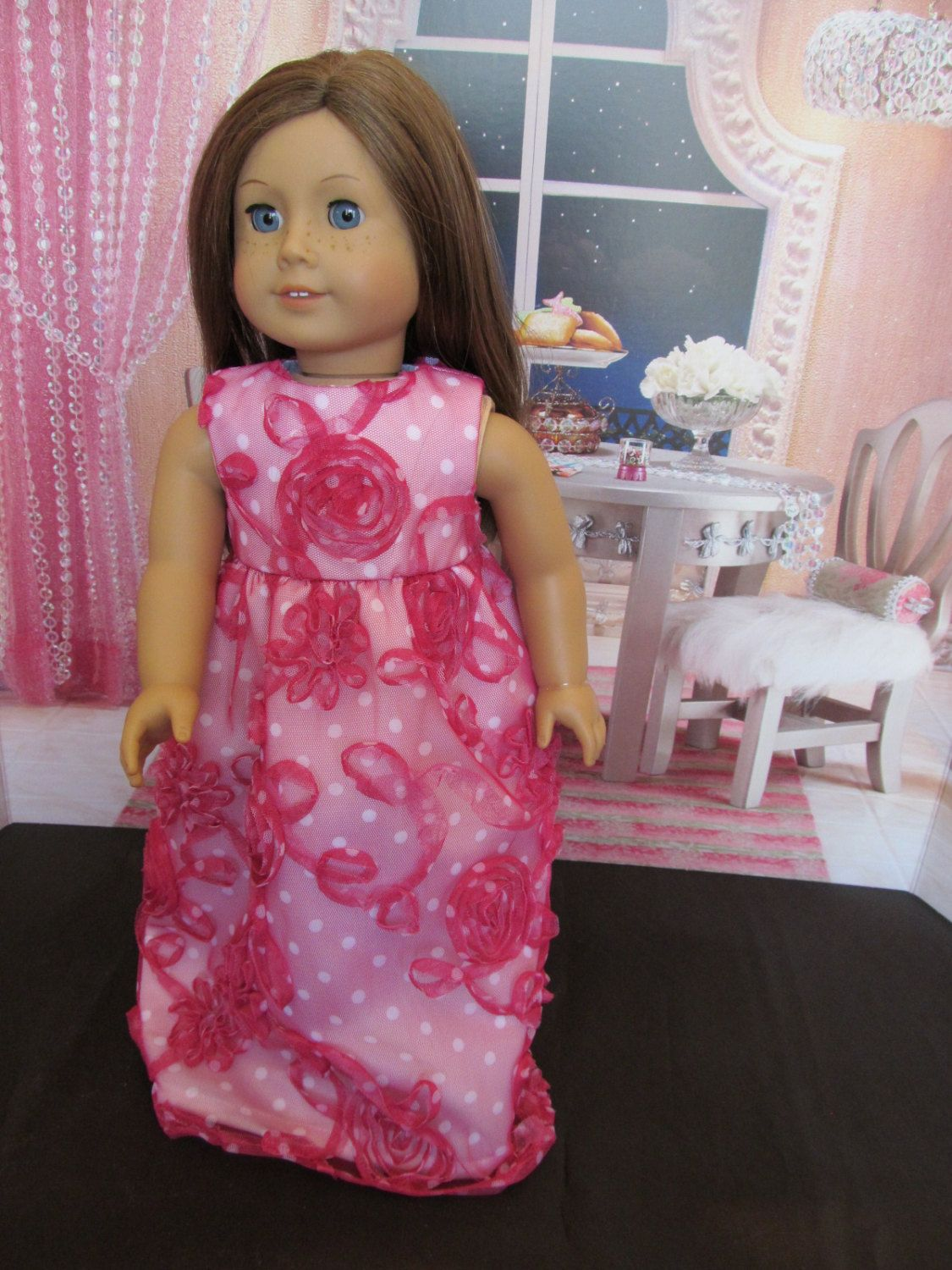 Pink 18\'\' Doll Party Dress, Hand Made to Fit 18\'\' Dolls ,Pink Fancy ...