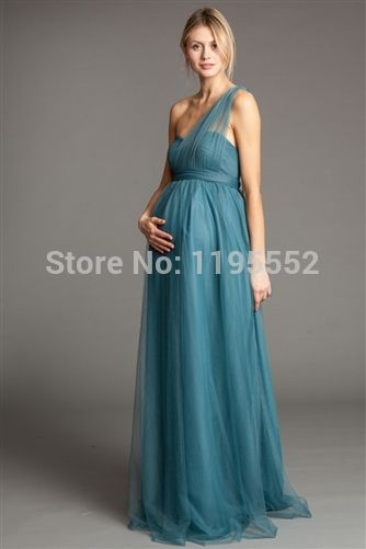 2015 Shirred Strapless Bodice Long Wedding Guest Evening Maternity ...