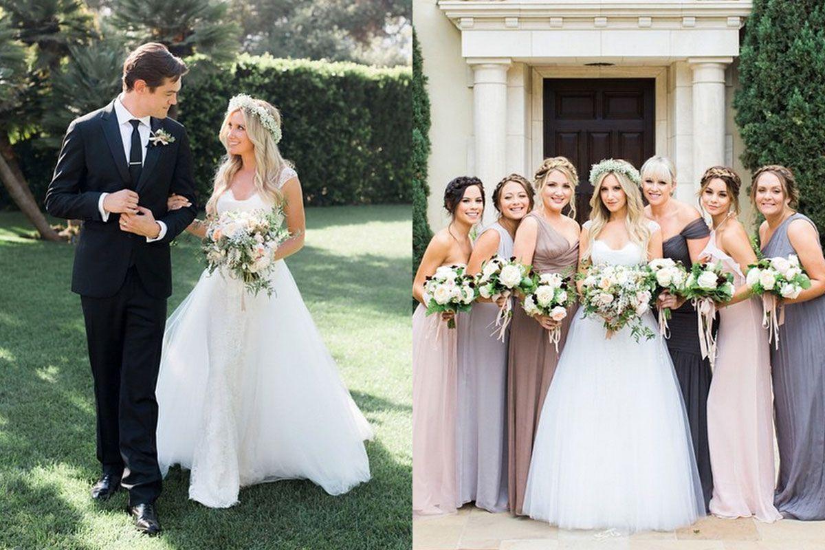 Elle 01 Ashley Tisdale Wedding Dress H Blog Jpg 1200 800 Celebrity Wedding Dresses Celebrity Wedding Gowns Wedding Dresses
