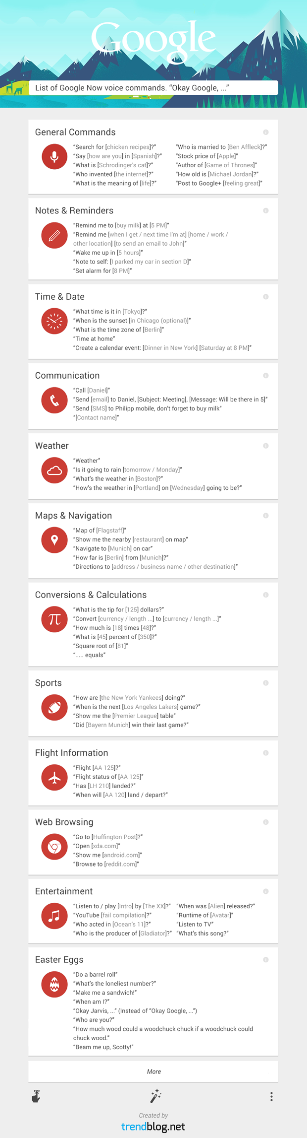 Over 60 Google Now Commands Infographic Google Voice Infographic How To Memorize Things