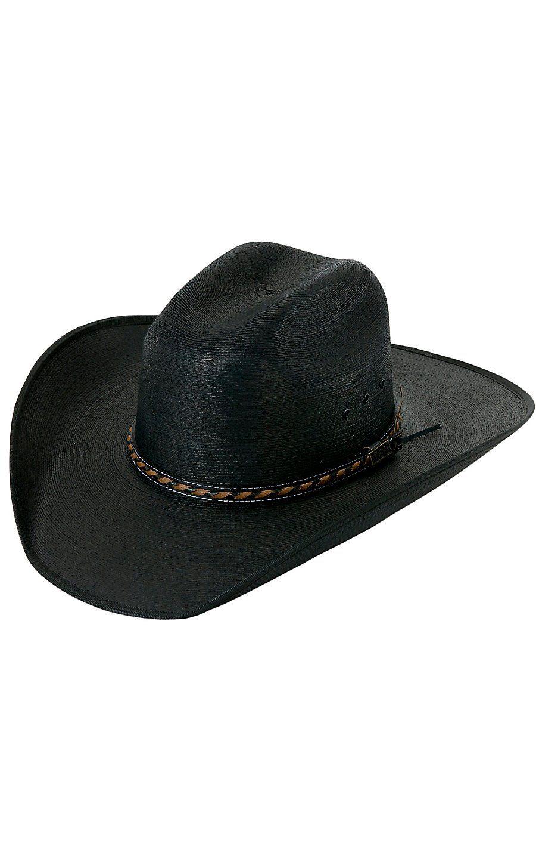 4cb24d5c96def Larry Mahan®30X Lawton Black Palm Leaf with Bound Edge Cowboy Hat