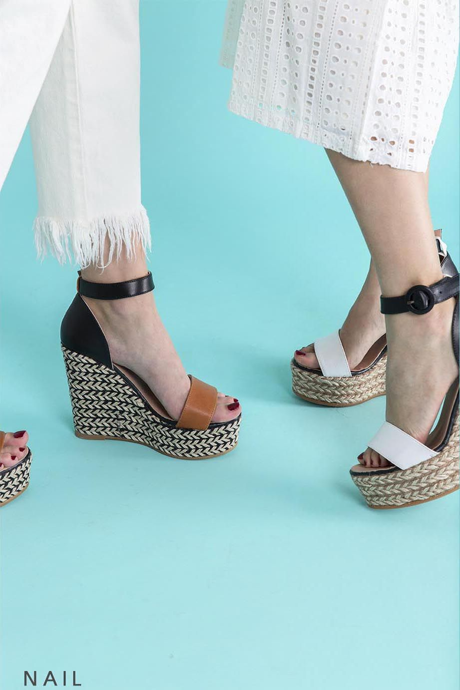 be40854c944 GAIMO SS17 Nail Wedge Espadrille Sandals