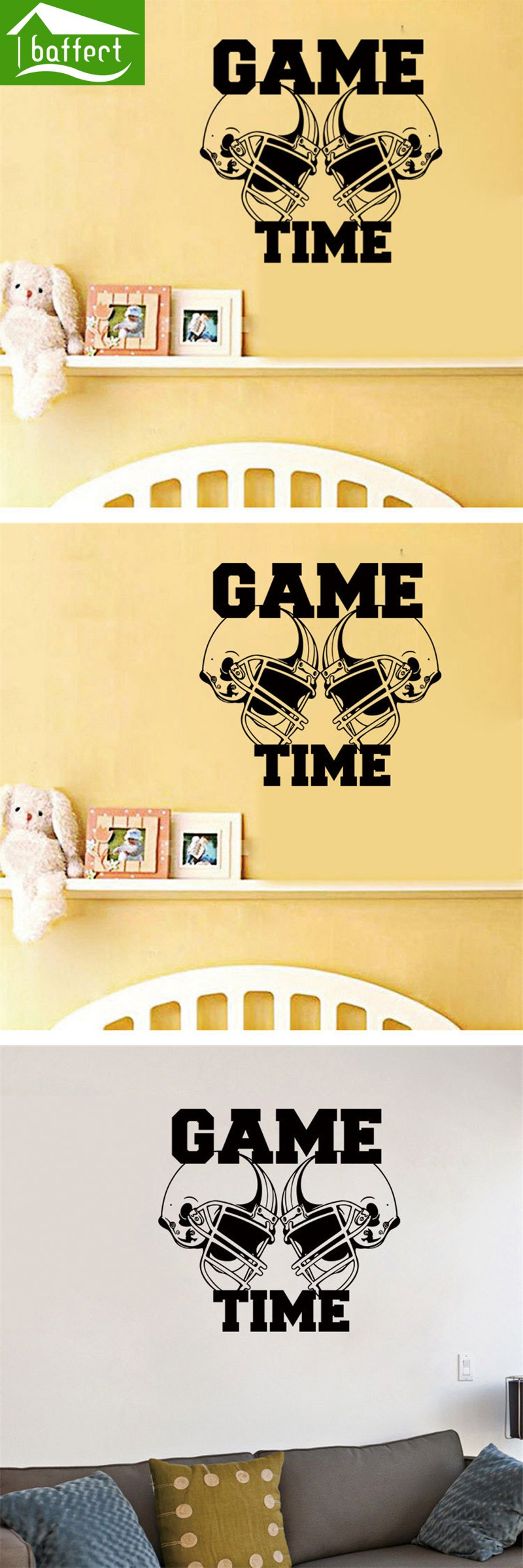 Sport wall art sticker Decals Vinyl Hockey Poster Game House Home ...