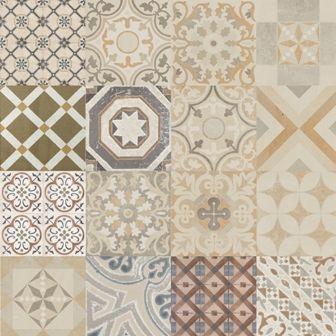 Adesivo para azulejo ladrilho hidr ulico mosaico 16 pe as for Vinilo azulejo hidraulico