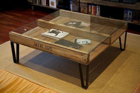 Más de 60 ejemplos de muebles hechos con palets   Bricolaje #pallets ...