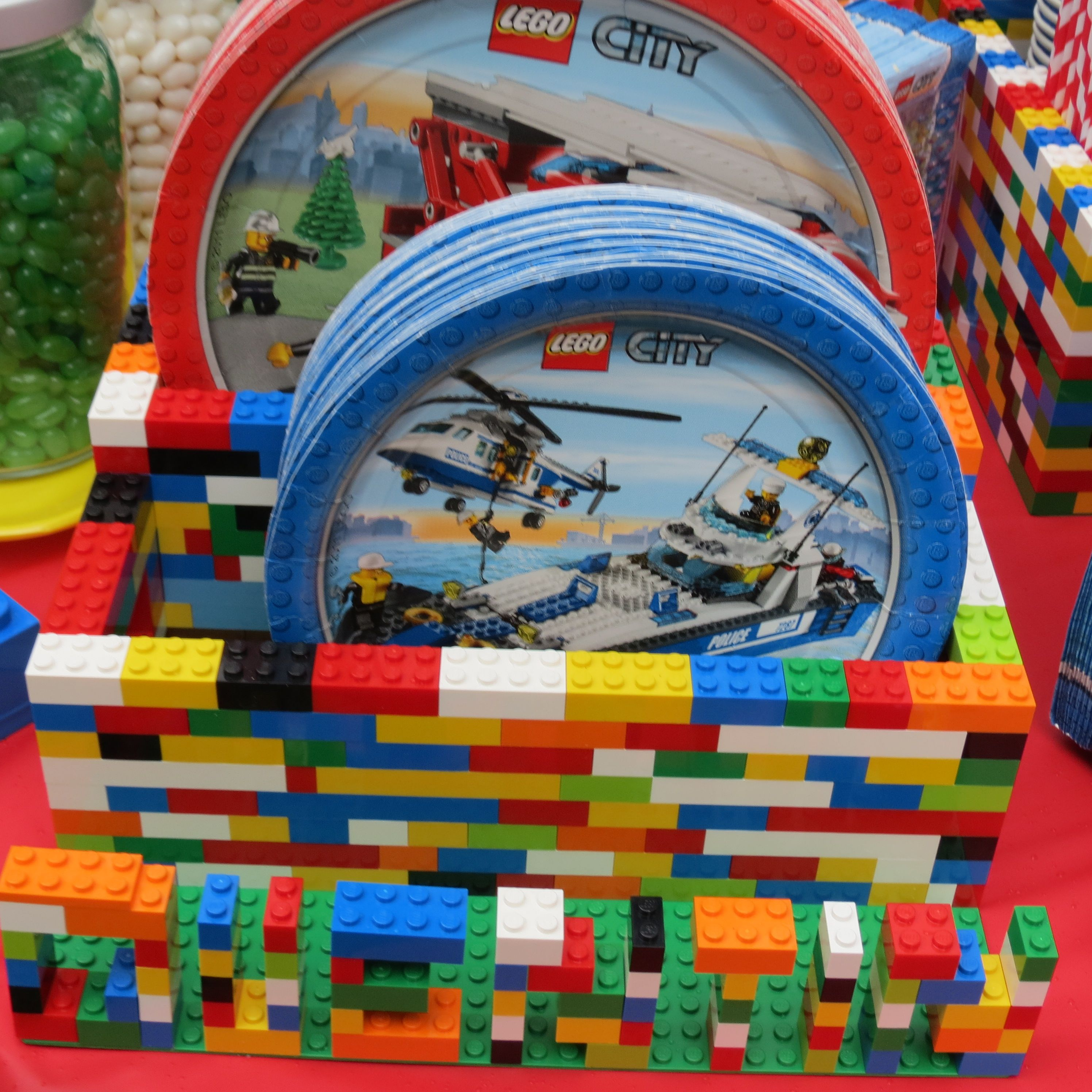 LEGO plate caddy
