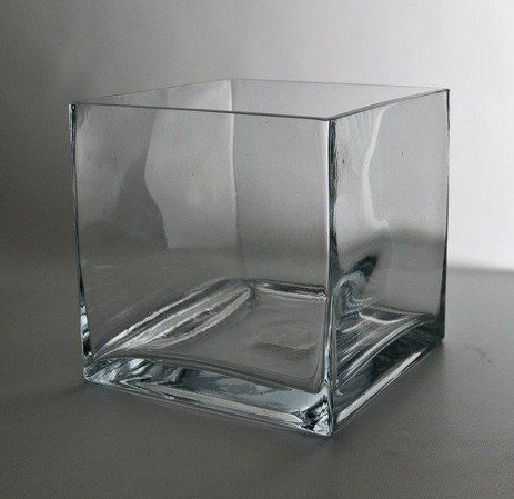Square Glass Vase 6 X 6 Price 500 Each 16 Available Sold As