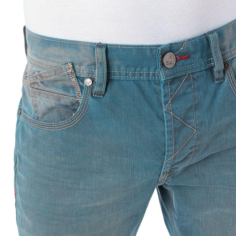 Vista detalle Jeans claros.