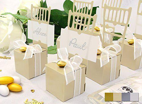 3in1 - Hier erhalten Sie die Tischkarten, Tischkartenhalter und die Kartonage für Ihre Gastgeschenke in einem. Sieht ganz toll aus und ist ein besonderes Highlight für Ihre Hochzeit von EinsSein in creme. 3in1 wedding place card, wedding place card holder and wedding favour box.