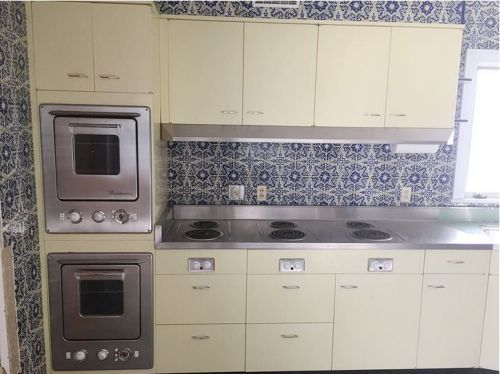 Vintage St Charles Kitchen Cabinets With Thermador Ovens And