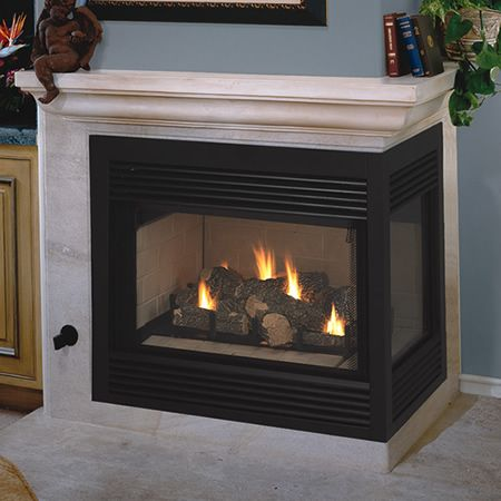 Vantage hearth direct vent right sided corner fireplace for Vantage hearth