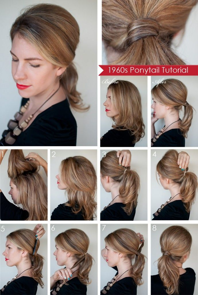 15 Different Ways to Make Cute Ponytails | Ponytail, 60s ...