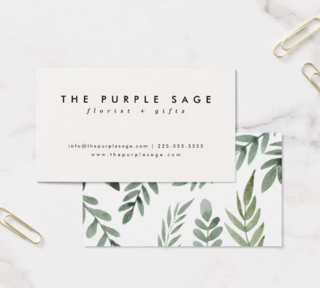 Stylish Fresh Botanical Business Cards Zazzle Com Graphic Design Business Card Florist Business Card Fresh Business Cards