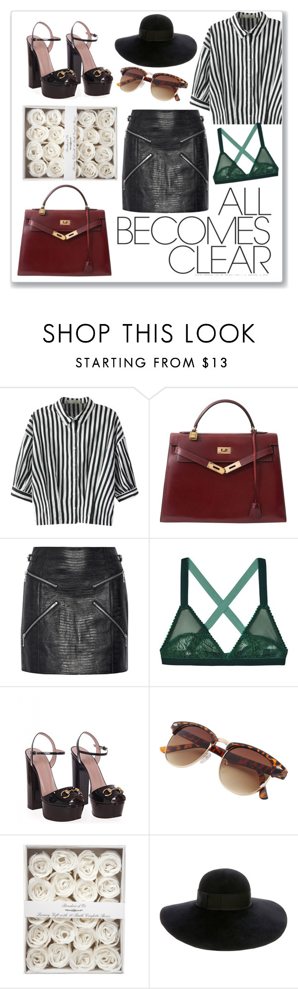"""""""#357"""" by madamenatali on Polyvore featuring Relaxfeel, Hermès, Alexander Wang, Lonely, Gucci, Eugenia Kim, gucci and girlpower"""