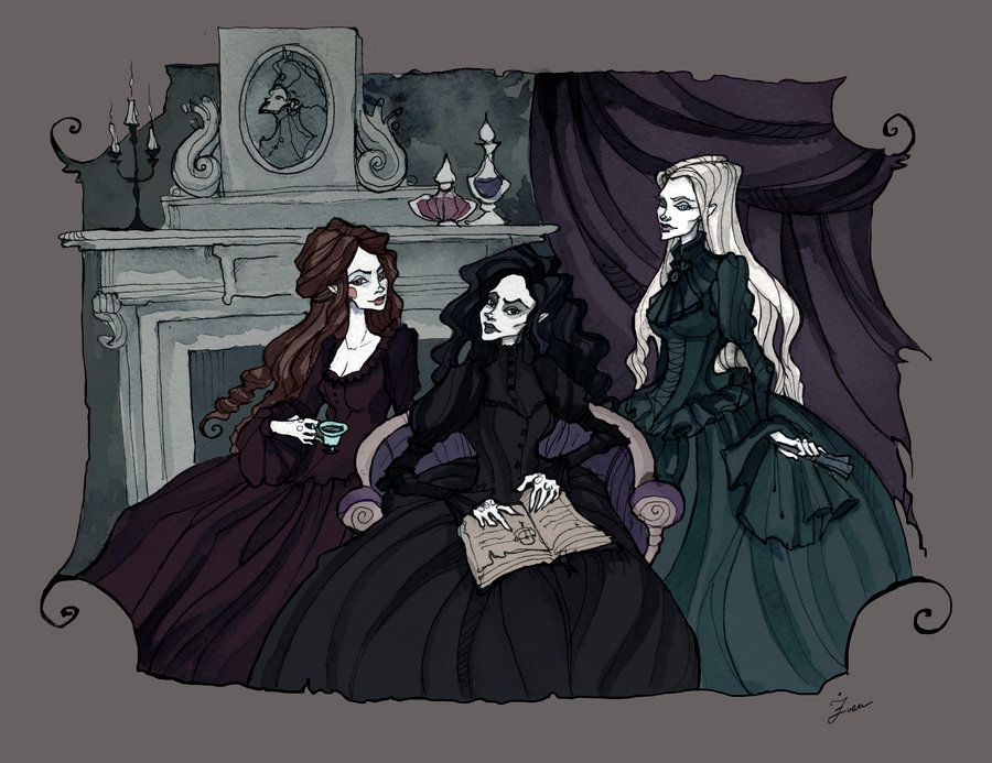 The Black Sisters By Irenhorrors On Deviantart Black Sisters Harry Potter Love Harry Potter Art
